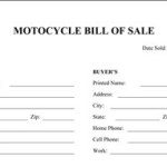Motorcycle Bill of Sale
