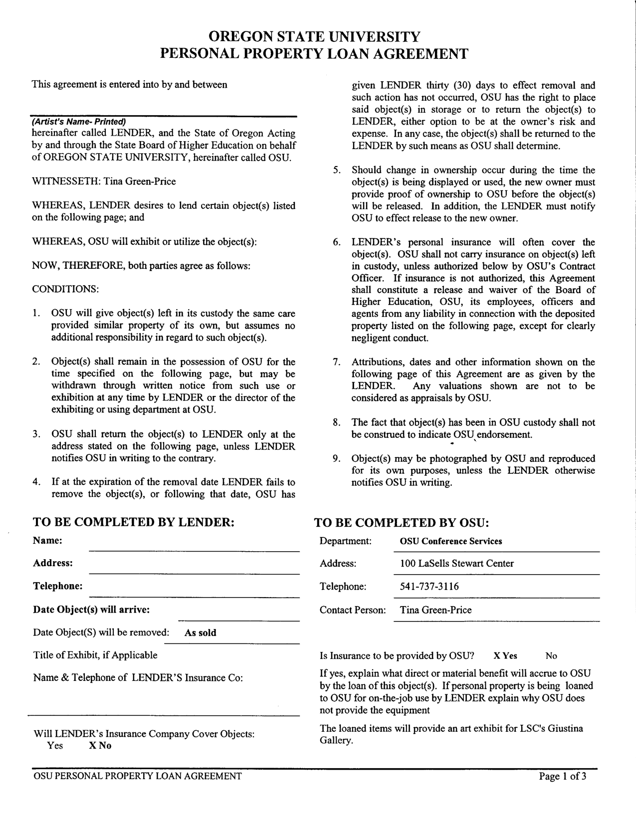 Doc9261200 Loan Agreement Form Free Printable Sample loan – Personal Loan Contracts