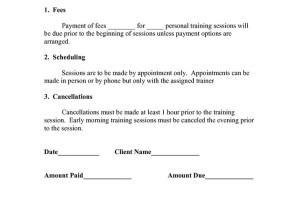 Legal forms archives sample printable legal forms for for Personal trainer contract templates
