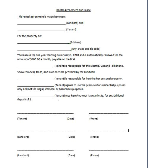 Free Printable Personal Training Contract Template Form (Generic)