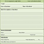 Police Report Template