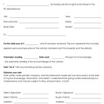 Rv Bill of Sale Form