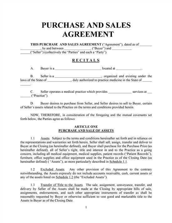 Free printable sale agreement form form generic for Contract for sale of land template