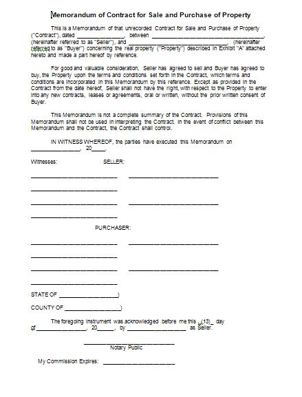 ... Sale Agreement Form ...