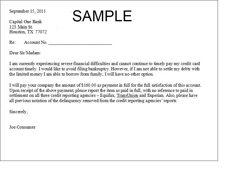 Sample Paid In Full Letter From Creditor Top Downloads