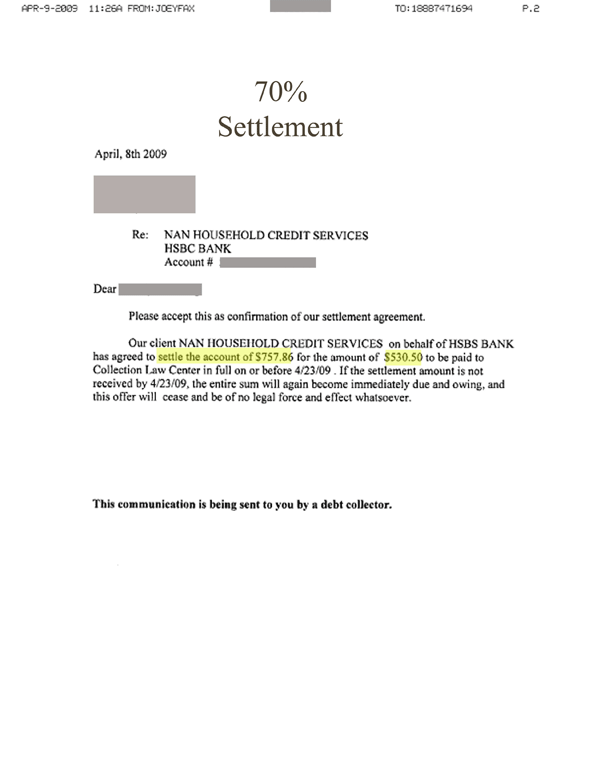 Example Cover Letter For Settlement Agreement. Payment Arrangement ...