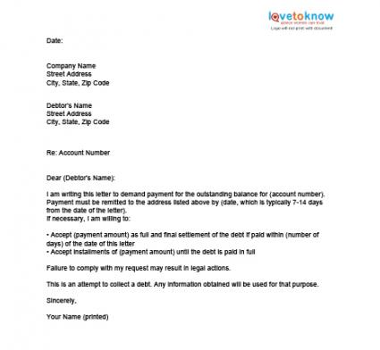 Mbna_Debt_Settlement_Letter. Settlement Offer Letter To Client Cv